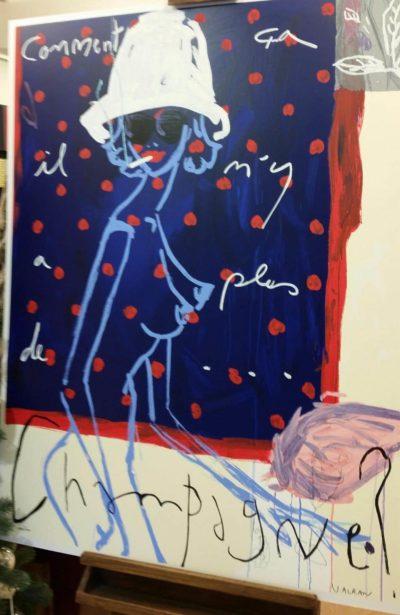 Comment ca il n'y a plus de...champagne?! - Serigrafia - Vincent Alran | Beaux Arts Siena Galleria d'arte